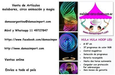 Vendemos Hula Hula de luz programable y garantía de fábrica